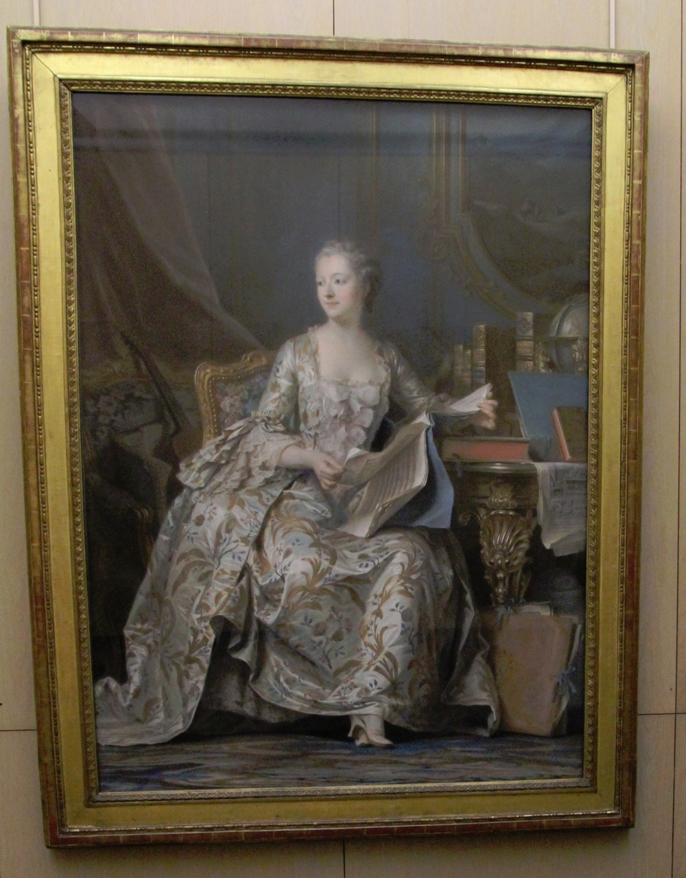 Madame Pompadour by de la Tour at the Louvre