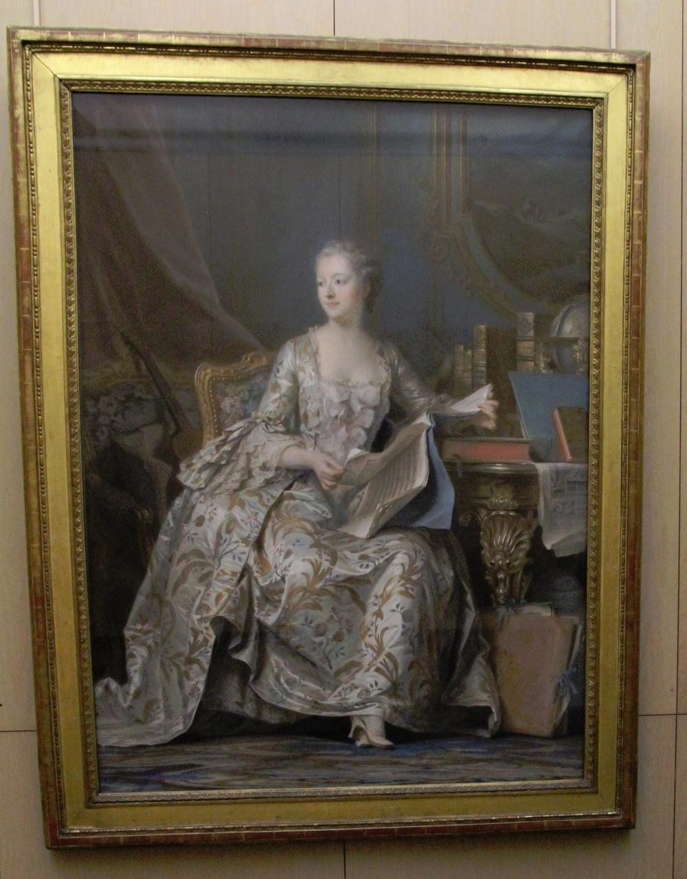 Madame Pompadour by de la Tour at the Louvre